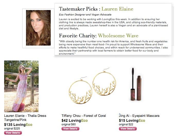 """Celebrity """"tastemaker"""" Designer Lauren Elaine in Loving Eco"""